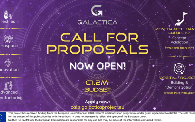 GALACTICA launches its first call for proposals with 1.2M€ to support new value chains by European innovative SMEs