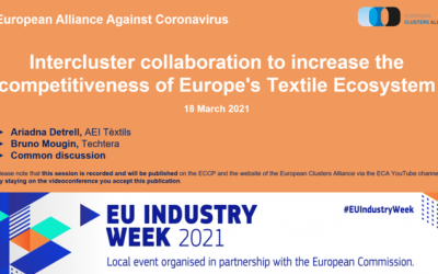 "EU-TEXTILE2030 was presented at the European Cluster Alliance webinar ""Intercluster collaboration to increase the competitiveness of the Europe's textile ecosystem"""